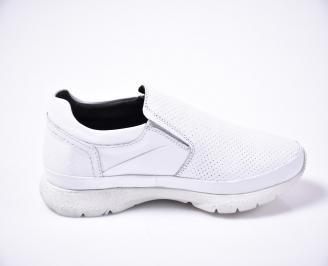 Мъжки ежедневни обувки естествена кожа бели 3