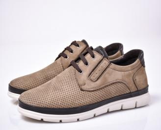 Мъжки ежедневни обувки естествен набук бежови