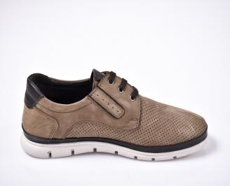 Мъжки ежедневни обувки естествен набук бежови 3