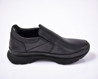 Мъжки ежедневки обувки естествена кожа черни 3
