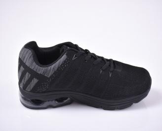Мъжки маратонки текстил черни.