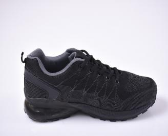 Мъжки маратонки текстил и еко кожа черни. 3