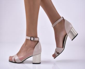 Дамски елегантни сандали еко кожа бежови.