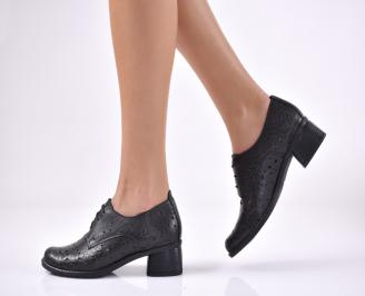 Дамски ежедневни обувки естествена кожа черен