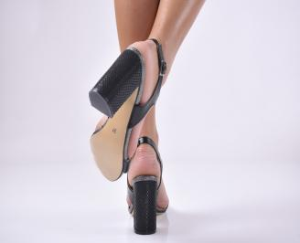 Дамски елегантни сандали еко кожа черни 3
