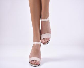 Дамски елегантни сандали  пудра
