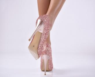 Дамски елегантни обувки   пудра