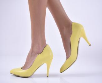 Дамски елегантни обувки              жълти