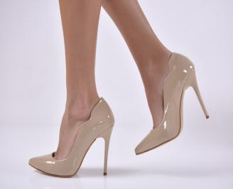 Дамски елегантни обувки  бежови