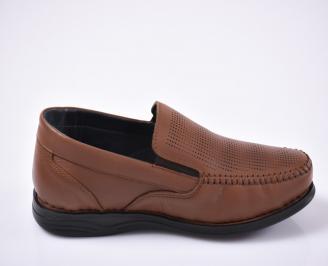 Мъжки ежедневки обувки естествена кожа кафяви.