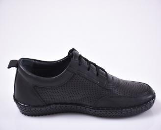 Мъжки ежедневки обувки естествена кожа черен.