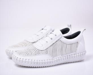 Мъжки ежедневки обувки естествена кожа бели.