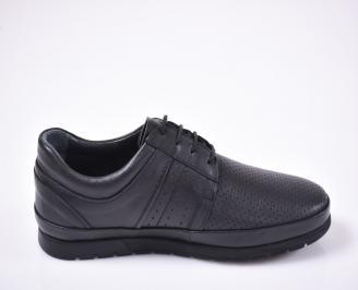 Мъжки ежедневки обувки естествена кожа сини 3