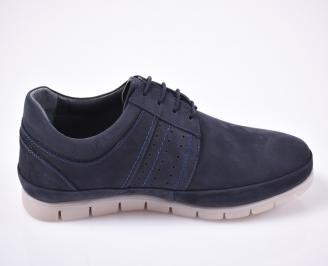 Мъжки обувки естествена кожа сини