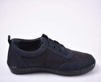 Мъжки ежедневки обувки естествен набук сини.