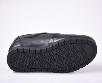 Мъжки ежедневки обувки естествена кожа черни