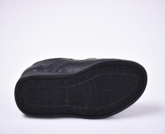 Мъжки ежедневки обувки естествена кожа черни.