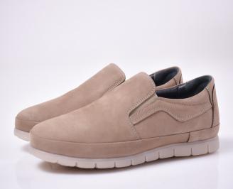 Мъжки  обувки естествена кожа бежови.
