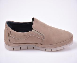 Мъжки  обувки естествена кожа бежови. 3