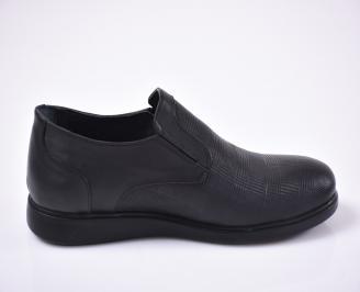 Мъжки ежедневки обувки естествена кожа черни. 3