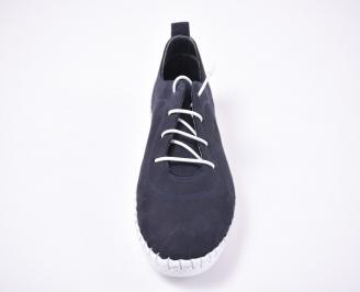 Мъжки  обувки естествен набук сини