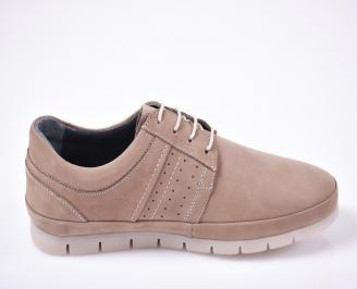 Мъжки  обувки естествена кожа бежови 3