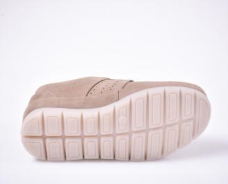 Мъжки  обувки естествена кожа бежови