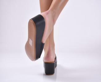 Дамски чехли  на платформа черни 3