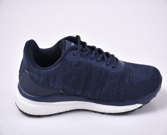 Мъжки маратонки текстил сини 3