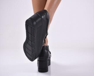 Дамски  обувки естествена кожа черни.