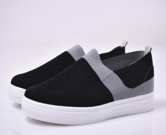 Мъжки спортни обувки текстил черни.