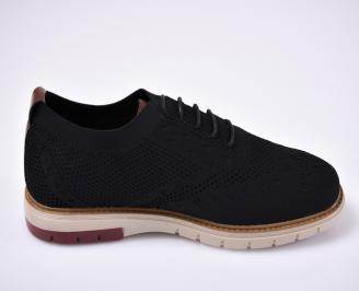Мъжки обувки ежеднивени обувки текстил черни
