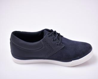 Мъжки спортни обувки текстил сини.