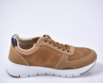 Мъжки спортни обувки кафяви 3