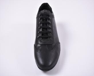 Мъжки  обувки естествена кожа черни EOBUVKIBG