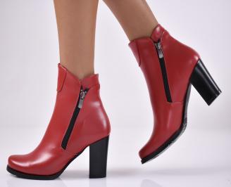 Дамски елегантни  боти  червен