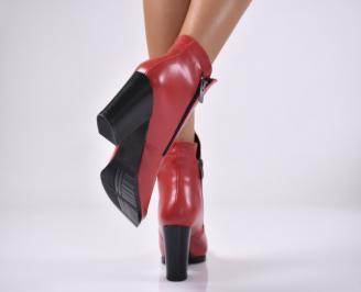 Дамски елегантни  боти  червен 3