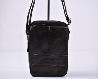 Мъжка чанта кафяви естествена кожа