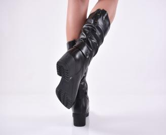 Дамски ежедневни ботуши черни