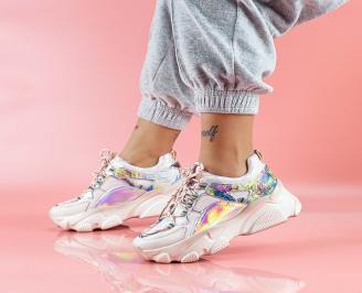 Дамски обувки на платформа бели