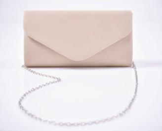Елегантна чанта бежова