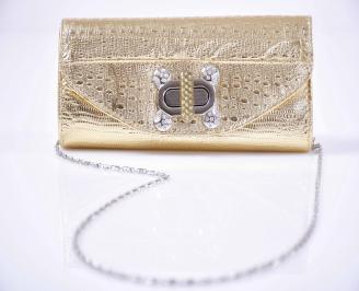 Елегантна чанта златиста