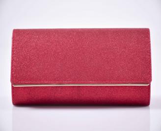 Елегантна чанта червена