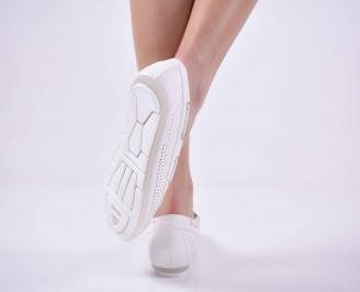 Дамски равни обувки бели