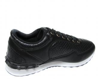 Юношески спортни обувки Bulldozer черни еко кожа 3