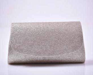 Елегантна абитуриентска чанта ситен брокат златиста EOBUVKIBG