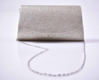 Елегантна абитуриентска чанта ситен брокат златиста EOBUVKIBG 3