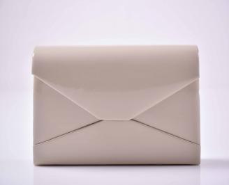 Елегантна абитуриентска чанта лак пудра  EOBUVKIBG