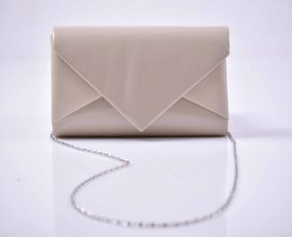 Елегантна абитуриентска чанта лак бежова  EOBUVKIBG