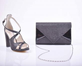 Комплект чанта и обувки черни